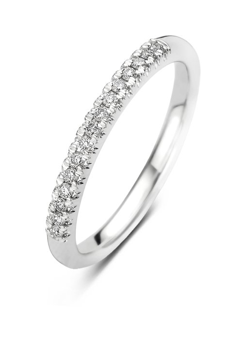 Diamond Point Witgouden ring 0.14 ct diamant Ensemble