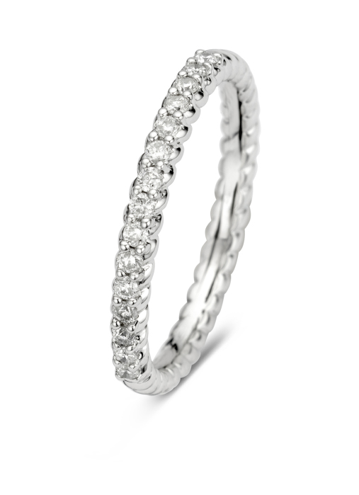 Diamond Point Ensemble Ring in 14K Weißgold