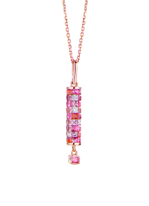 Diamond Point Colors pendant in 18 karat rose gold