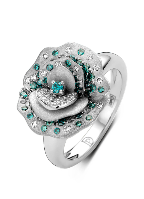 Diamond Point Beauties of the Sea Ring in 18K Weißgold