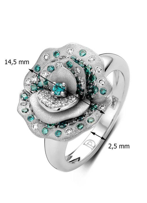 Diamond Point Beauties of the sea ring in 18 karat white gold