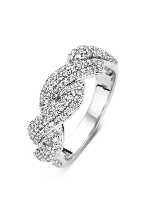 Diamond Point Côte d'azur ring in 14 karat white gold