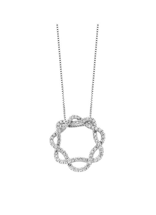 Diamond Point Côte d'azur pendant in 14 karat white gold