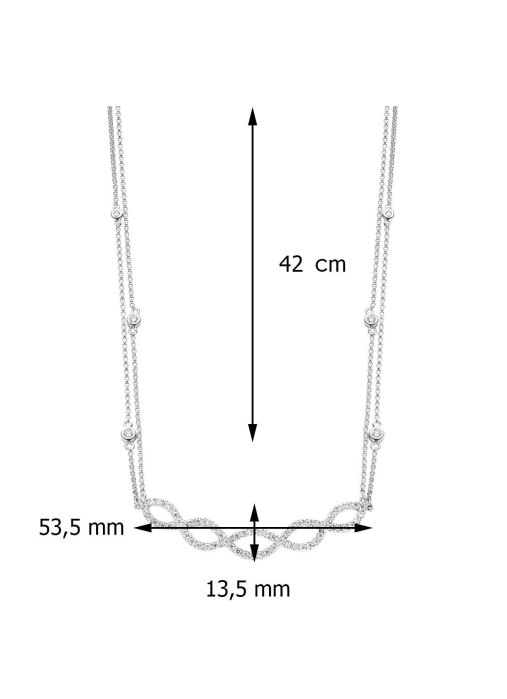 Diamond Point Côte d'azur necklace in 14 karat white gold