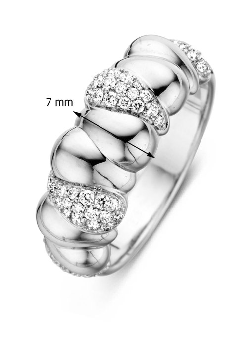 Diamond Point Witgouden ring, 0.28 ct diamant, Beauties of the Sea