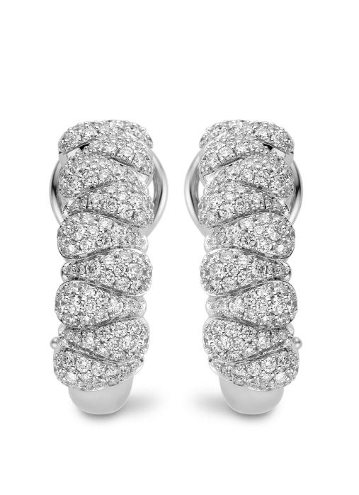 Diamond Point Beauties of the sea earrings in 18 karat white gold
