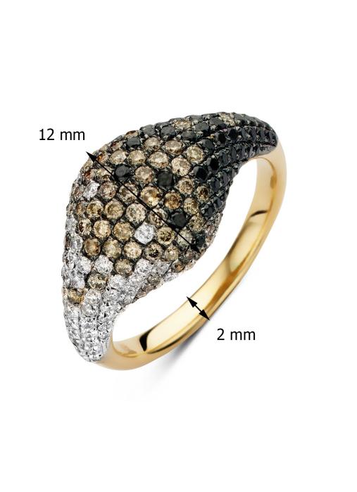 Diamond Point Geelgouden ring 0.63 ct diamant Black