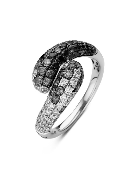 Diamond Point Witgouden ring, 1.30 ct diamant, Black