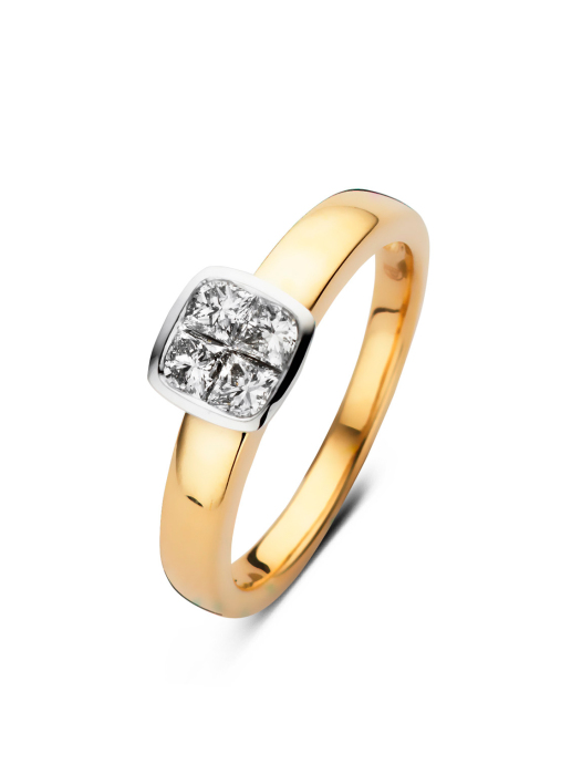 Diamond Point Gouden ring, 0.52 ct diamant, Fourever