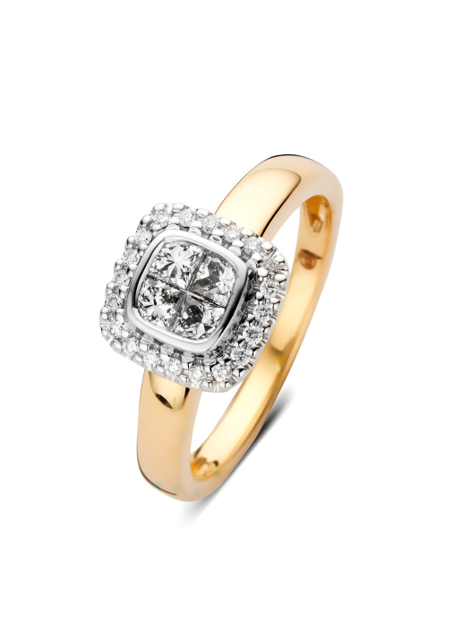 Diamond Point Gouden ring, 0.56 ct diamant, Fourever