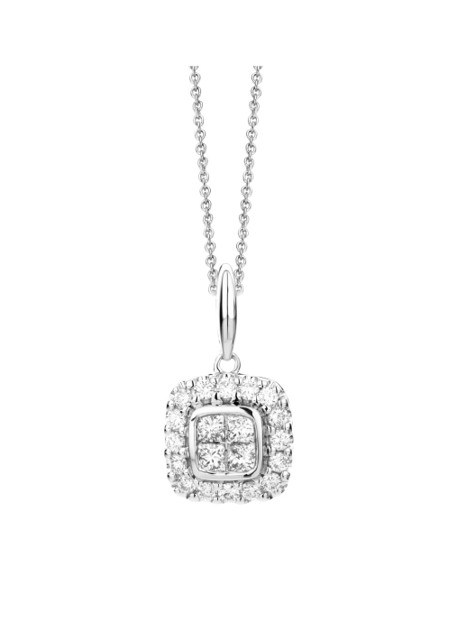 Diamond Point Fourever pendant in 14 karat white gold