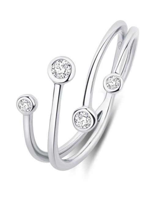 Diamond Point Witgouden ring, 0.16 ct diamant, Solitair