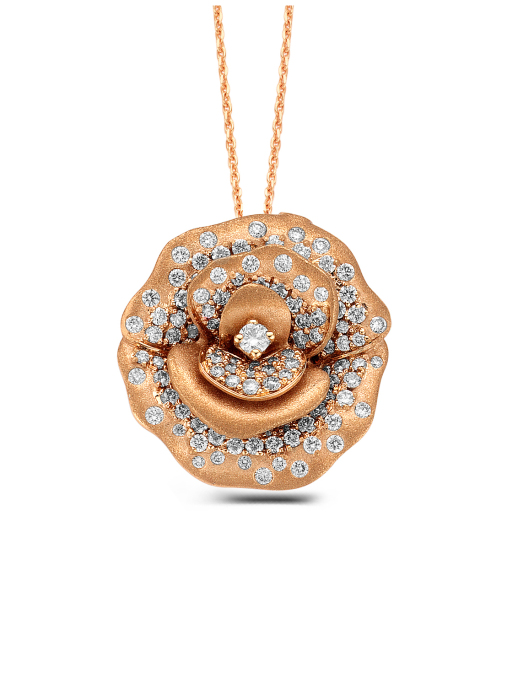 Diamond Point Beauties of the sea pendant in 18 karat rose gold