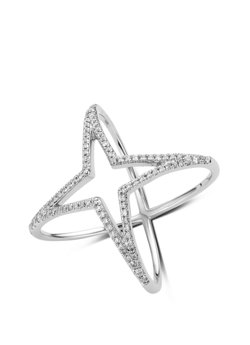 Diamond Point Witgouden ring 0.30 ct diamant Like a star