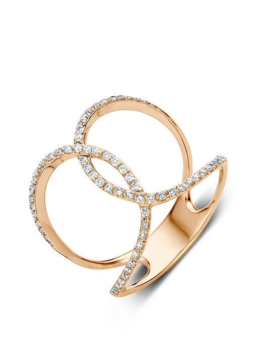Diamond Point Like a star Ring in 14K Roségold