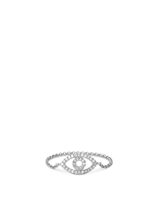 Diamond Point Uptown ring in 14 karat white gold