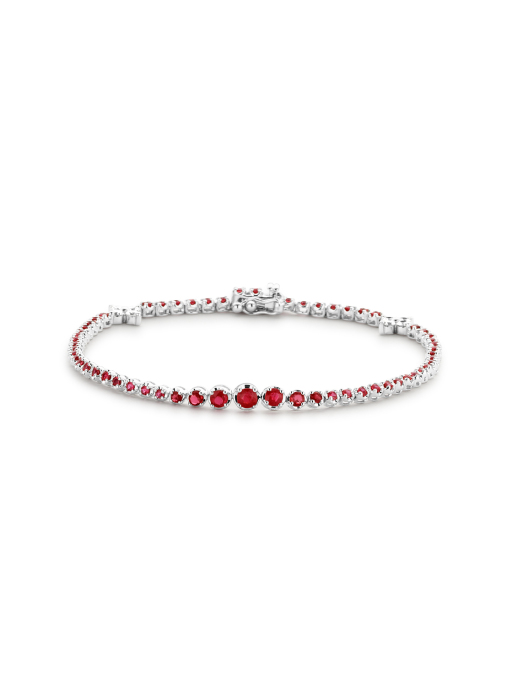 Diamond Point Colors bracelet in 14 karat white gold