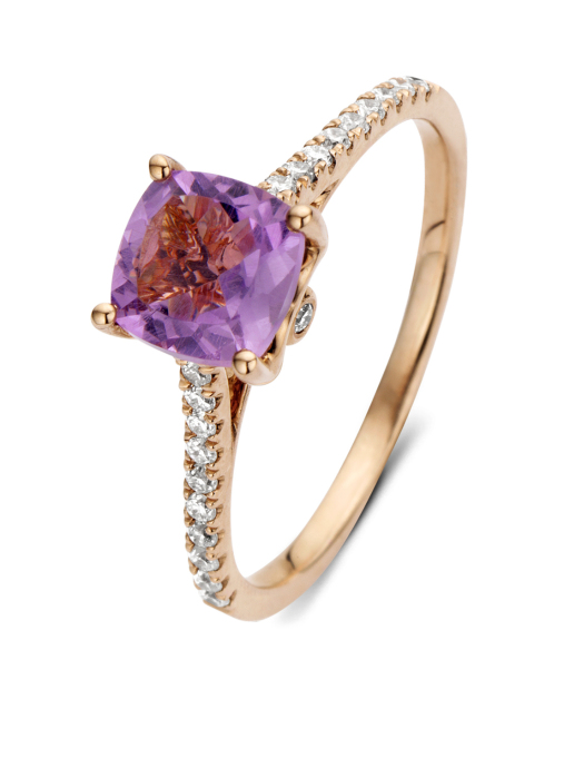 Diamond Point Colors Ring in 14K Roségold