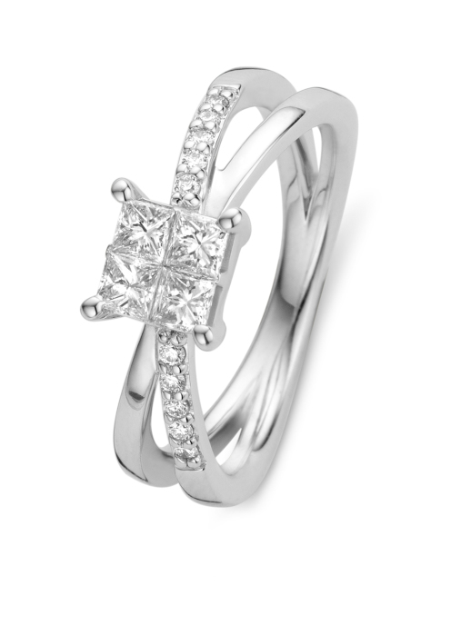 Diamond Point Witgouden ring 0.45 ct diamant Fourever