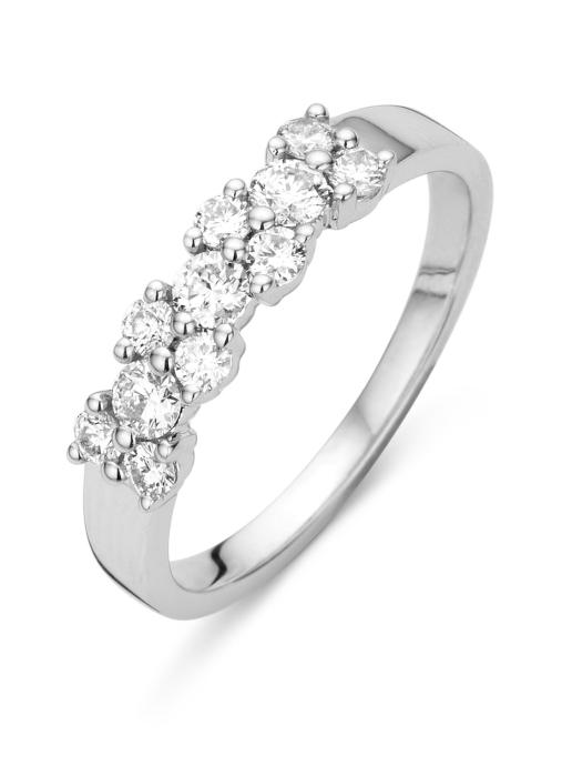 Diamond Point Witgouden ring, 0.55 ct diamant, Majestic