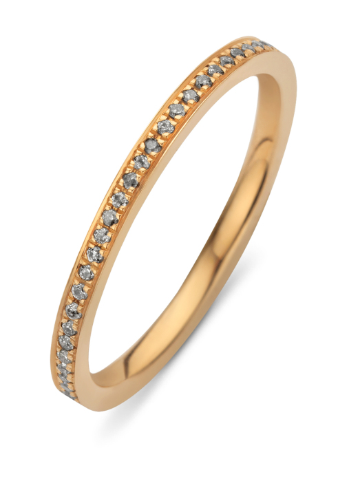 Diamond Point Alliance ring in 14 karat rose gold
