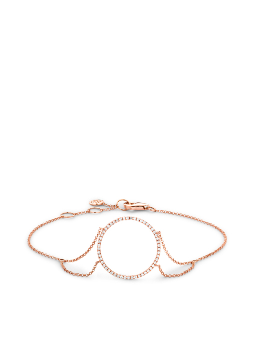 Diamond Point Uptown Armband in 14K Roségold