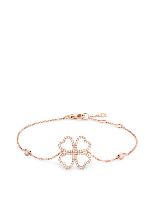 Diamond Point Uptown bracelet in 14 karat rose gold