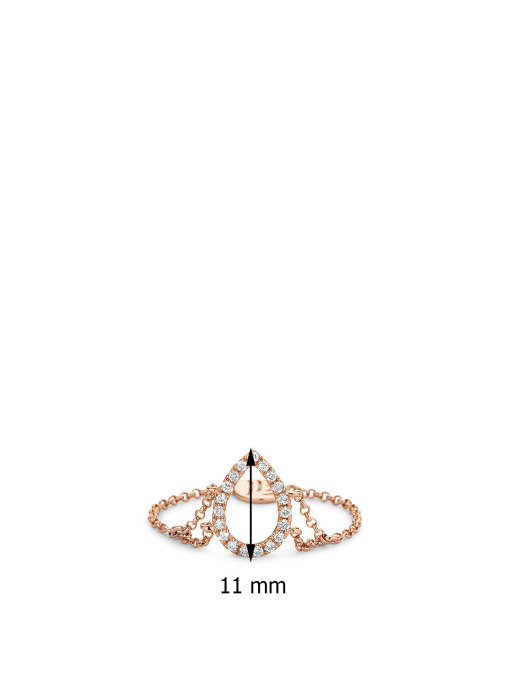 Diamond Point Uptown Ring in 14K Roségold