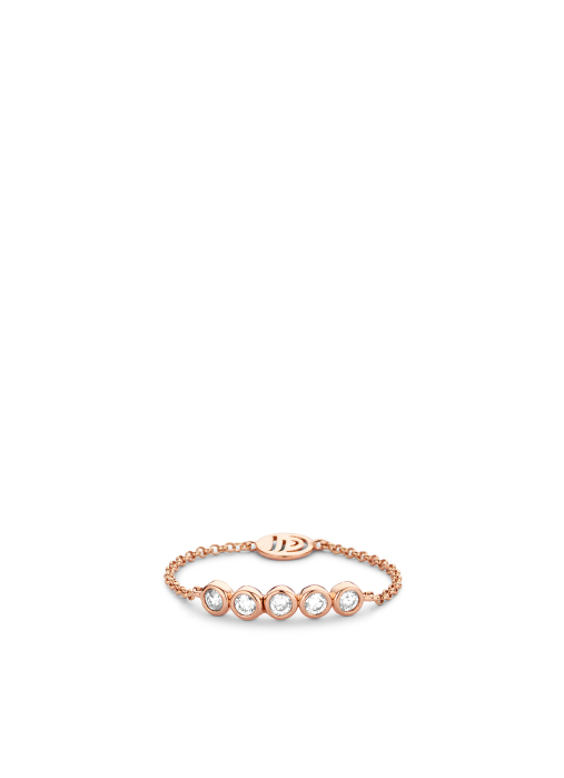 Diamond Point Uptown ring in 14 karat rose gold