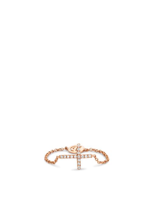 Diamond Point Uptown ring in 14 karat rose gold
