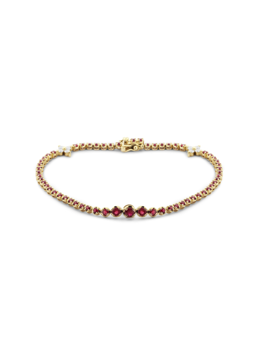 Diamond Point Colors bracelet in 14 karat yellow gold