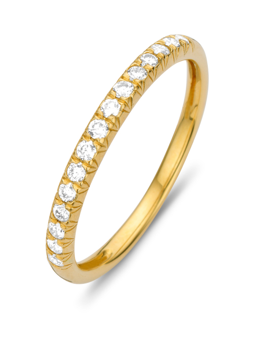 Diamond Point Alliance ring in 14 karat yellow gold