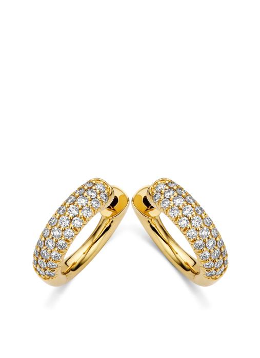 Diamond Point Caviar earrings in 18 karat yellow gold