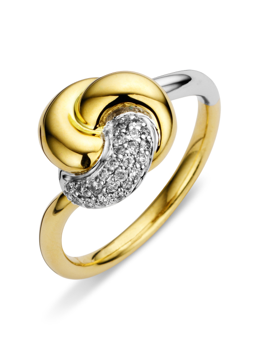 Diamond Point Caviar ring in 14 multiple colors gold