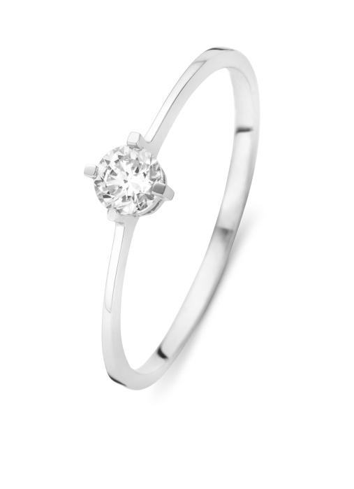 Diamond Point Witgouden ring, 0.24 ct diamant, Solitair