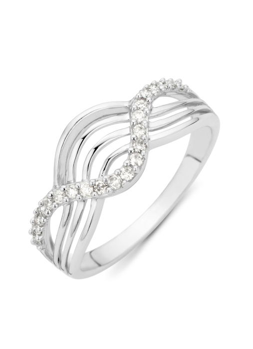 Diamond Point Witgouden ring, 0.21 ct diamant, Alliance
