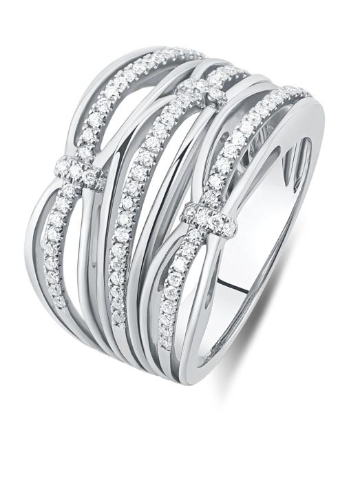 Diamond Point Alliance Ring in 18K Weißgold