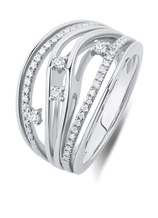 Diamond Point Witgouden ring, 0.32 ct diamant, Alliance