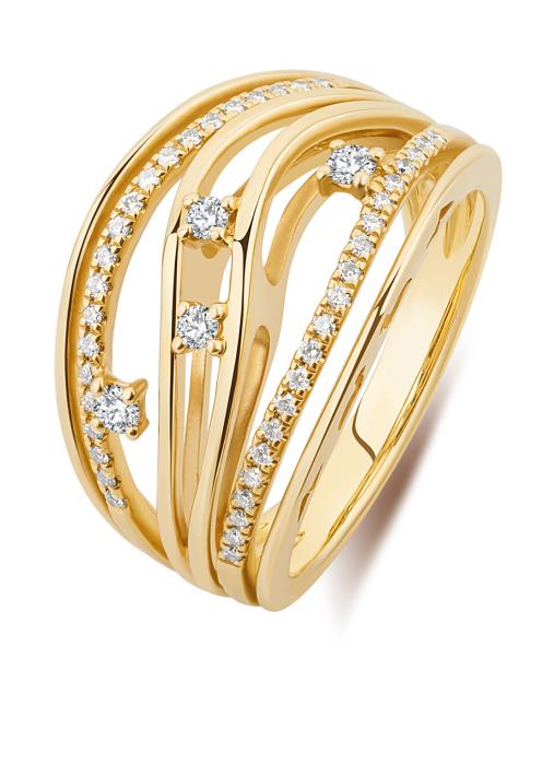Diamond Point Alliance ring in 18 karat yellow gold