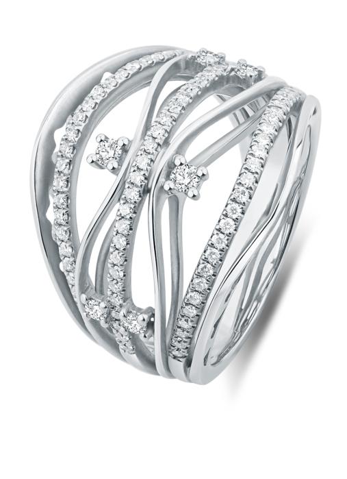 Diamond Point Witgouden ring, 0.55 ct diamant, Alliance