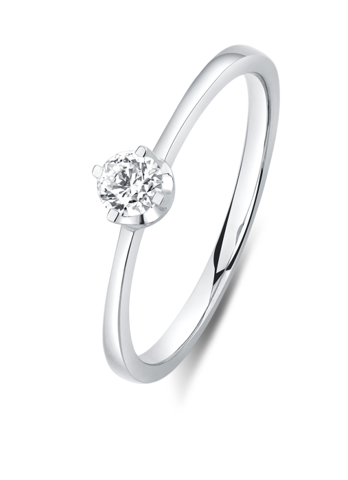 Diamond Point Witgouden ring, 0.20 ct diamant, Solitair