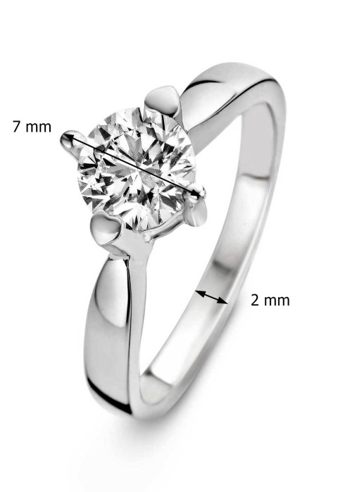 Diamond Point Witgouden ring 0.40 ct diamant Hearts & Arrows