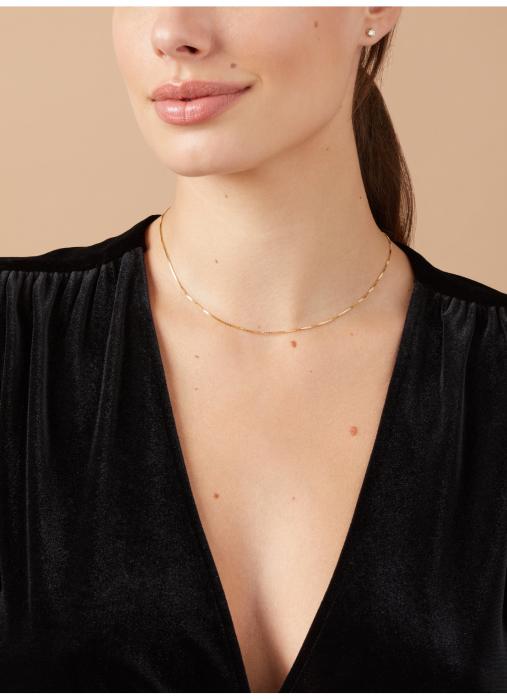 Diamond Point Timeless treasures geelgouden collier (42cm)