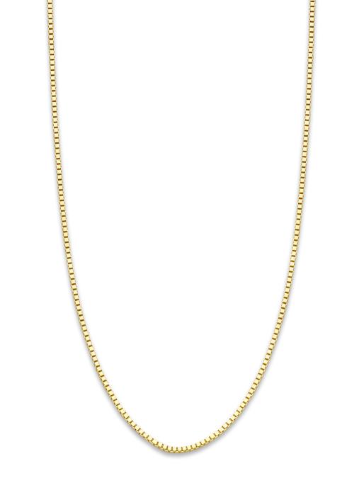 Diamond Point Timeless treasures geelgouden collier (50cm)