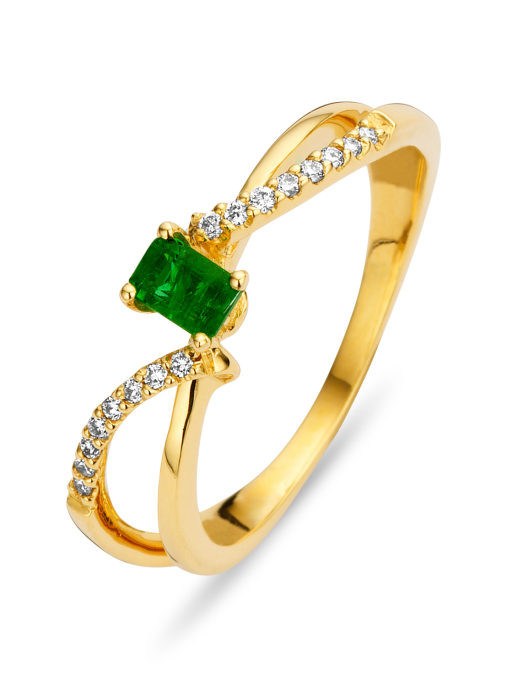 Diamond Point Majestic Ring in 18K Gelbgold