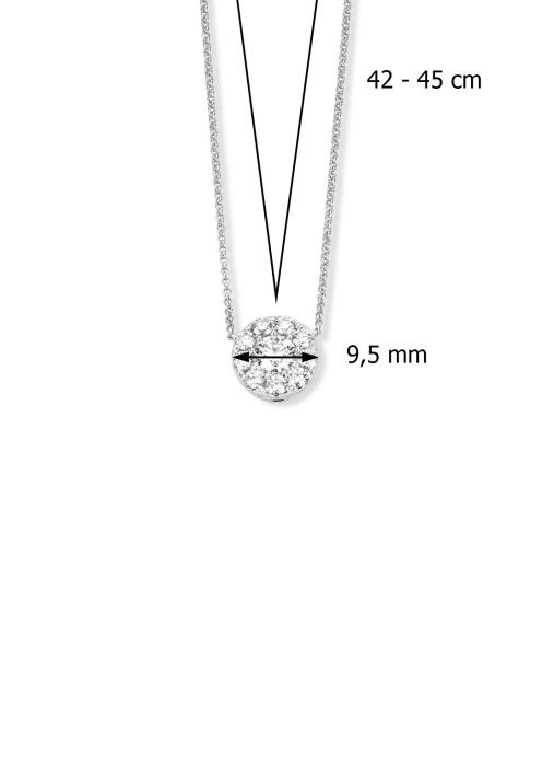 Diamond Point Witgouden hanger, 0.74 ct diamant, Hearts & Arrows