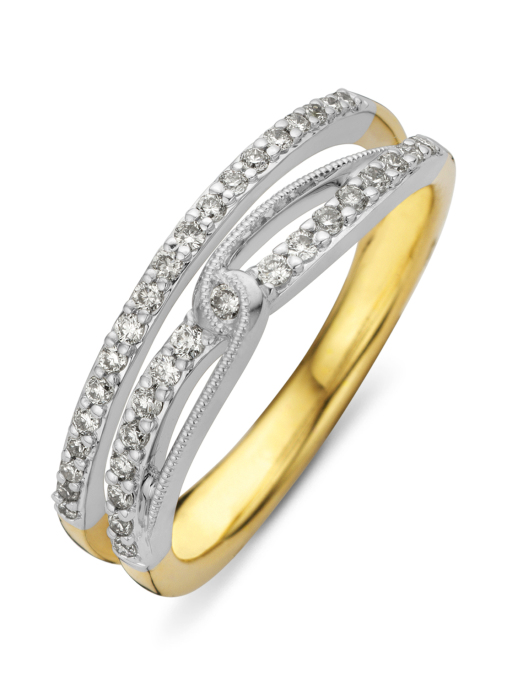 Diamond Point Alliance ring in 14 multiple colors gold