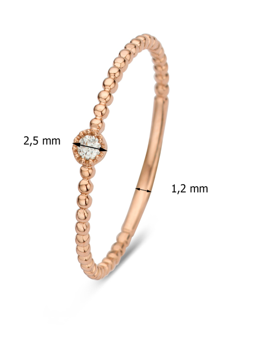 Diamond Point Joy ring in 14 karat rose gold
