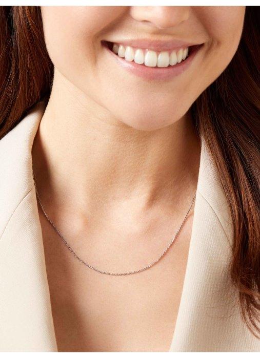 Diamond Point Timeless treasures witgouden collier (45cm)