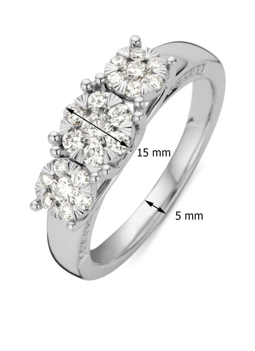 Diamond Point Witgouden ring 0.58 ct diamant Enchanted